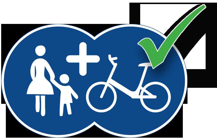 Verkehrsschild Fußgänger und Radfahrer